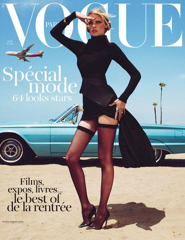Lara Stone Vogue cover