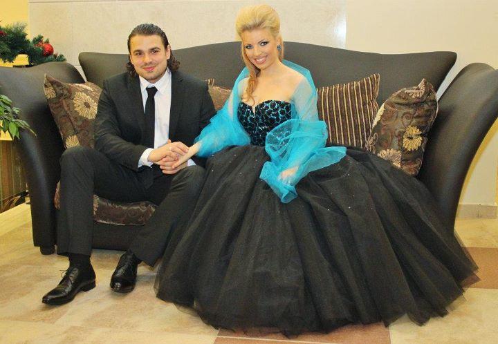 Паолина Петракиева със съпруга си