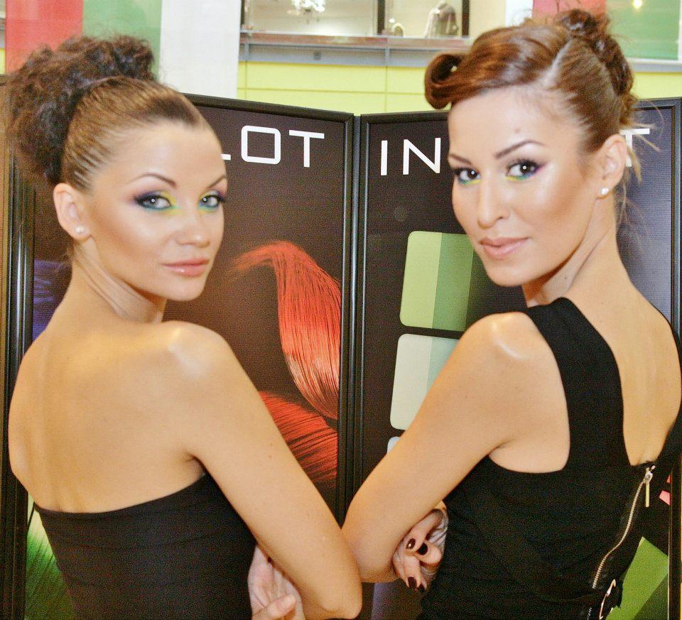 Диляна Попова и Яна Грудева на откриване на нов магазин на Inglot