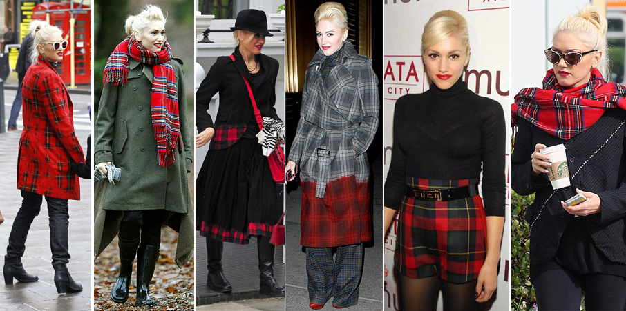 Gwen Stefani in plaid