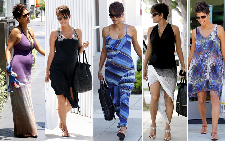 Halle Berry pregnant style