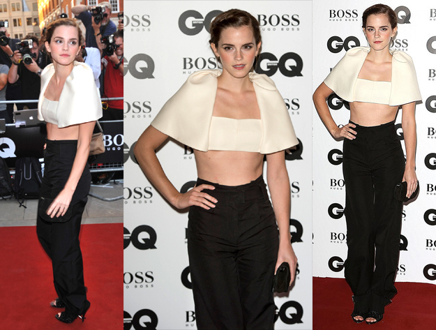 Emma Watson attends the GQ Men of the Year awards