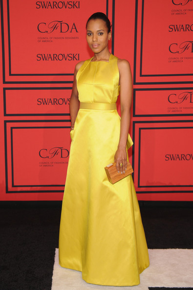 Kerry Washington with dresses by Jason Wu
