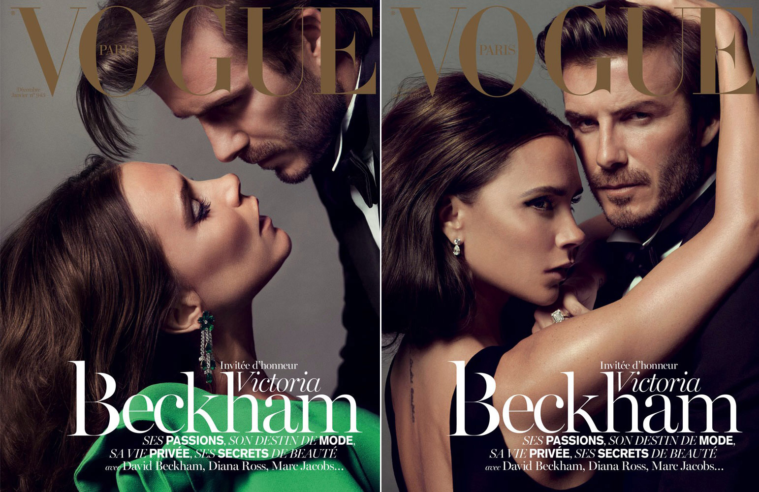 Victoria David Beckham cover Vogue Paris