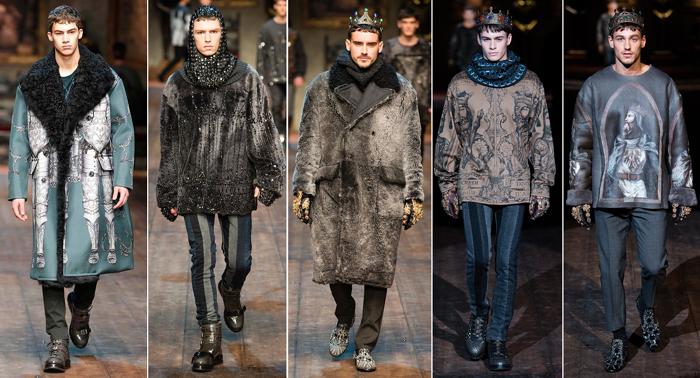 Dolce and Gabbana menswear Fall2014