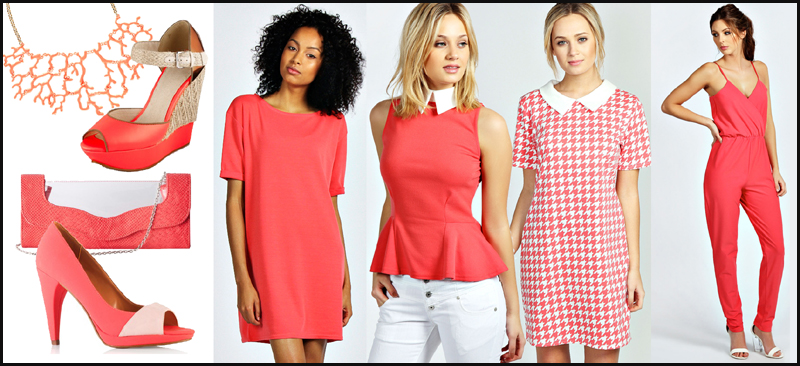 coral colour for spring 2014
