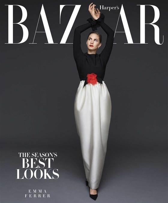 Audrey Hepburn's granddaughter Emma Ferrer models for Haper's Bazaar