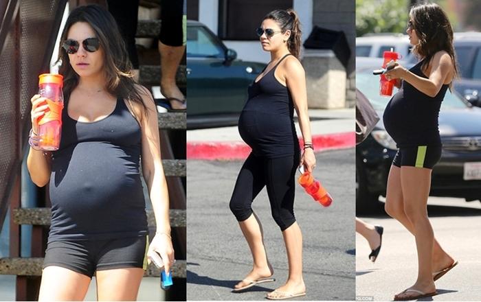 Mila Kunis pregnant 1