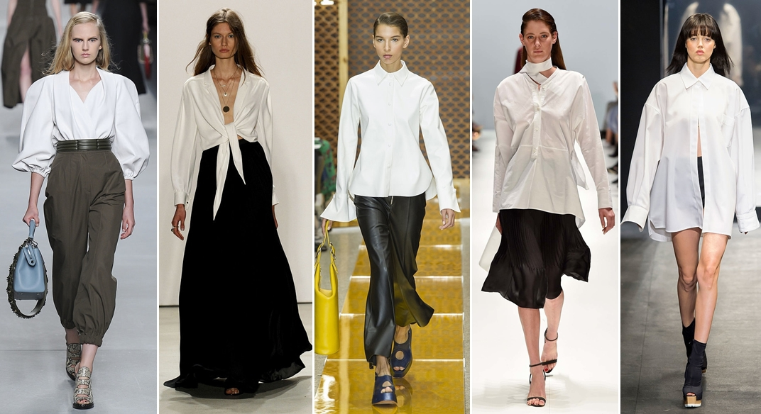 Бяла риза - Fendi SS16-horz
