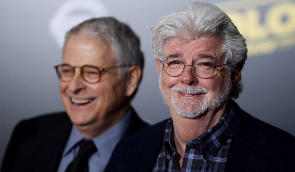Сценаристът Lawrence Kasdan и създателят на Star Wars George Lucas