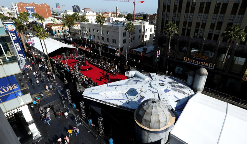 Hollywood Boulevard в Los Angeles Millenium Falcon