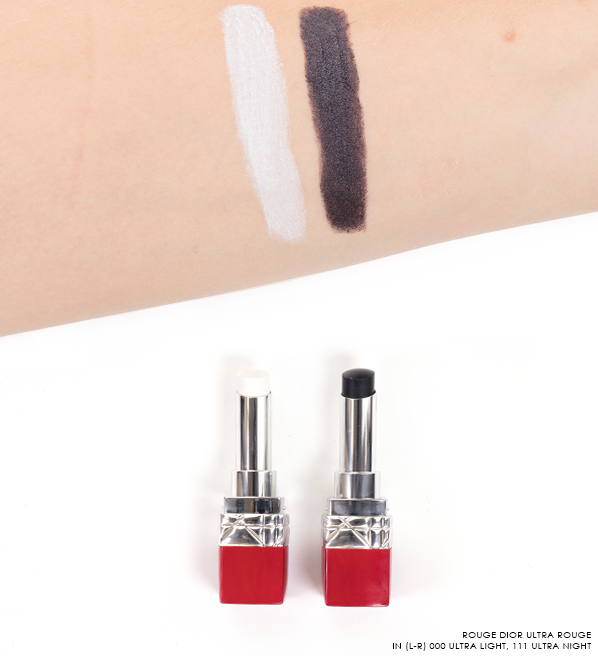 Rouge-Dior-Ultra-Rouge-Lipstick-Swatches-in-000-Ultra-Light-and-Ultra-111-Night